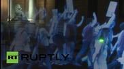 Първият в света холограмен протест в Испания