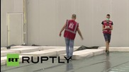Croatia: First refugees arrive at Zagreb warehouse that will host 1,500 people
