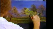S04 Радостта на живописта с Bob Ross E12 - есенен ден ღобучение в рисуване, живописღ