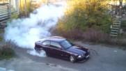 Bmw E36 M3 Turbo 600hp Burnout