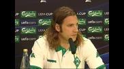 Uefa Cup 08/09 : хамбургер - Вердер | интервюта