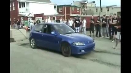 Fail Burnout - Honda Civic