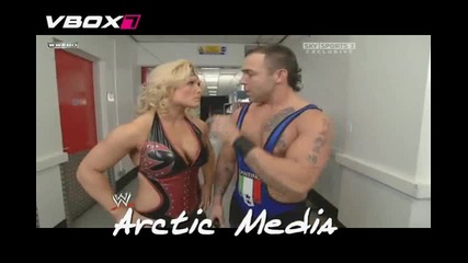 Beth And Santino Backstage Raw 10.11.08 (БГsub)