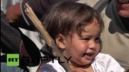 Macedonia: Migrants and refugees depart for Serbian border