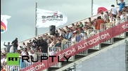 Russia: Elite aerobatic pilots dazzle crowds over Sochi's Olympic Park