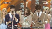 [engsub]150901 The Show - Vixx Lr 1st Win - Hongbin Award Speech & Encore