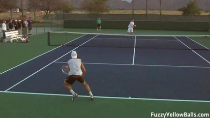 David Ferrer hitting in High Definition