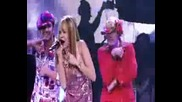 Hannah Montanameet Miley Cyrus - Pumpin Up the Party It live Best of Both Worlds Concert H