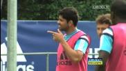 Новите играчи на Челси в първа тренировка