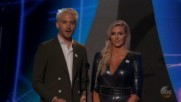 Charlotte Flair presents an award at the 2018 ESPYS on ABC
