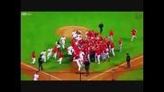 Меле по време на бейзболен мач