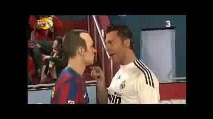 Бой между Iniesta Vs Cristiano Ronaldo