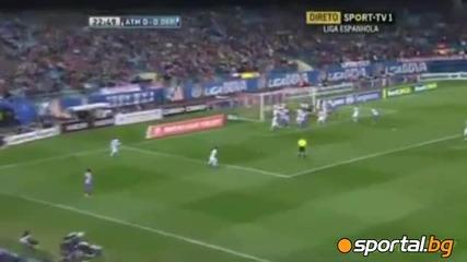 Феноменално Фалкао-шоу, вкара пет гола за 45 минути! Атлетико Мадрид 6:0 Депортиво Ла Коруня