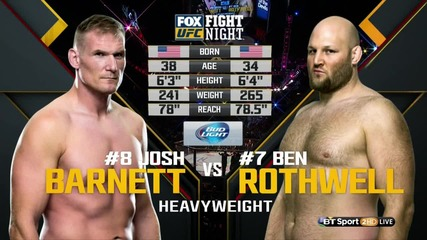 Josh Barnett vs Ben Rothwell (ufc on Fx 18, 30.01.2016)