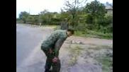 пияница скача в гьола за 5 лв