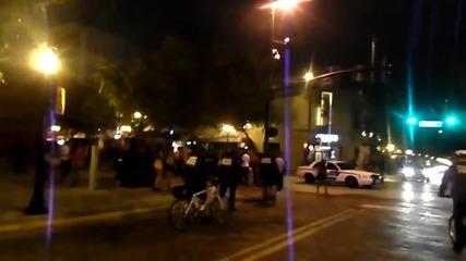 полицай с коне газът хора