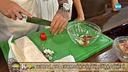 Джино Бианкалана приготвя пилешки бутчета в спирала от тесто - На кафе (18.10.2017)