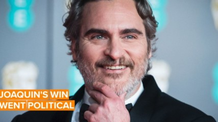 """Joaquin Phoenix called out """"systemic racism"""" in his BAFTA speech"""