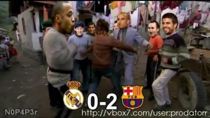 Футболистите на Барселона играят кючек смях