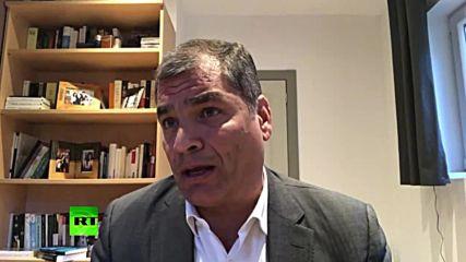 Belgium: 'Ecuador to turn over Assange to US' - ex-Ecuadorian President Correa *EXCLUSIVE*