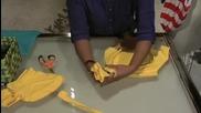 Жена прави за 2 минути от стара тениска пазарска чанта