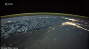 Астронавтът Тим Пик публикува видео с искрящи светкавици над Земята
