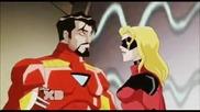 Железният Човек и Мис Марвел от анимацията Отмъстителите: Най-могъщите герои на Земята (2010/11/12)