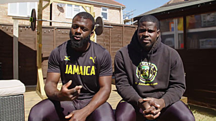 Cool Runnings - Jamaican bobsleigh team trains by pushing Mini during lockdown in UK
