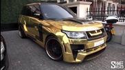 Gold Range Rover Hamann Mystere in London