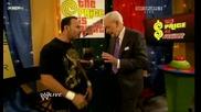 Raw 9/07/09 Bob Barkur & Chavo Guerrero [backstage]