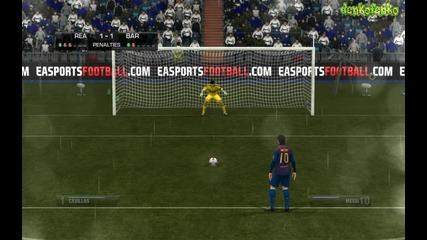 Fifa 12 ( Real Madrid - Barcelona ) - дузпи !