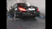 Mercedes Cls 63 Amg 5.5 Bi-turbo mit Hms Performance Klappenabgasanlage Soundfile Pufstand.wmv