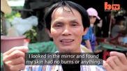 Човека, който може да пържи пиле с ръцете си без да се изгаря от врящата мазнина