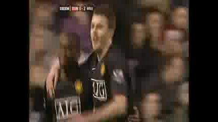 Sunderland 0:2 Manchester Utd. - Saha