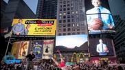 Cuba, U.S. Wrestlers Tussle in Times Square