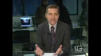 Бой в централна емисия новини зад кадър