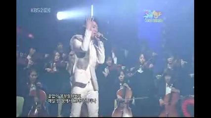 091225 Kbs Music Bank Christmas Special_outsider ft Mc Song Joong Ki - Alone