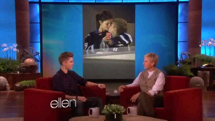 Джъстин говори за Селена в Шоуто на Елън ..