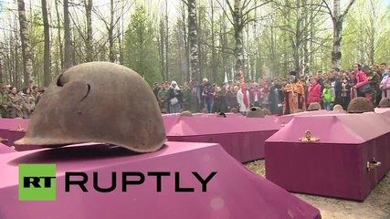 Russia: Remains of 164 Red Army soldiers buried in St. Petersburg
