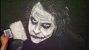 Удивителна рисунка със сол на карта Joker!