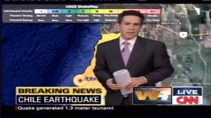 Земетресението В Чили [27/02/2010] Cnn News
