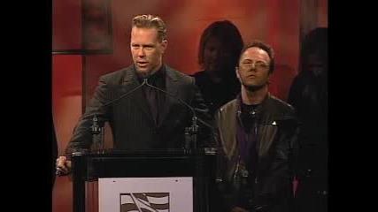 James Hetfield Giving A Speech