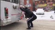 Как се ползва тролея през зимата в Русия