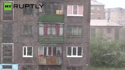 Christmas in July? Summer Snow Storm Hits Siberian Town of Vorkuta