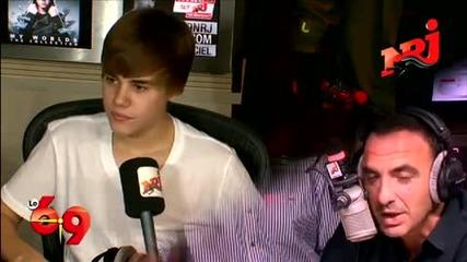 Justin Bieber Nrj interview Part 3
