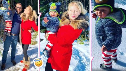 Антония Петрова с равносметка и топъл семеен миг от студената зима! Синът ѝ - на 10 месеца