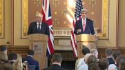 UK: 'More Britain abroad' - Johnson and Kerry hold first joint press conference