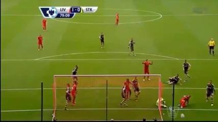 Ливърпул-стоук Сити 1:0-първи мач за сезон 2013/14 във висшата лига