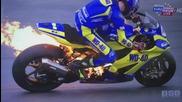Мотор се запали по време на състезание