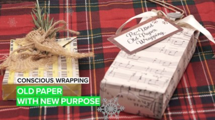 Conscious wrapping: Giving unique paper new life